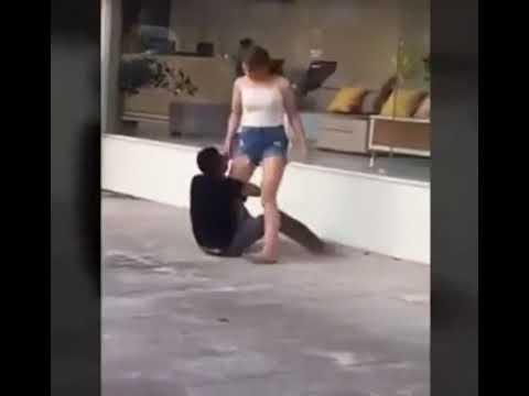 Gã trai lụy tình ôm chân bạn gái ở Yên Bái bị vật ngã, tát như trời giáng