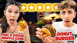 We Tried CRAZY Food at the FAIR... **10,000 CALORIES**