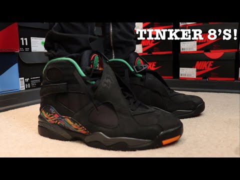 EARLY REVIEW AND ON FEET OF THE AIR JORDAN 8 TINKER AIR RAID!!!