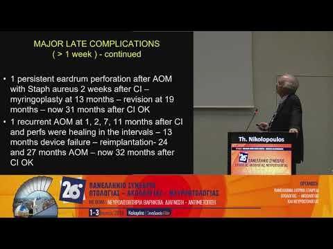 Th. Nikolopoulos - State of the art session: Cochlear implants concepts and results