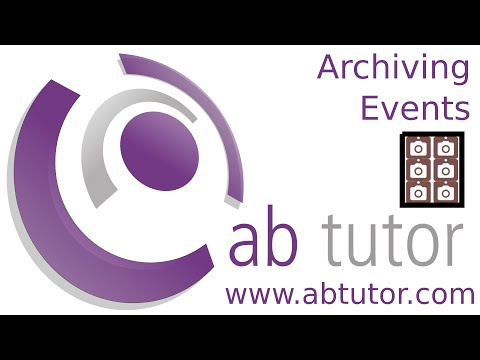 Archiving old events with AB Tutor