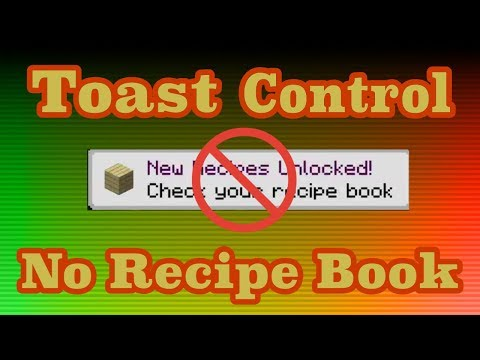 Toast Control and No Recipe Book for Minecraft 1.12.2 - Mod Showcase