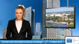 Crimea vote dominates currency exchange