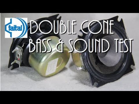 Faital unit 19134 003 02 double cone Crt TV speakers ( Sound & bass