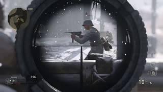 Call of duty ww2 using a sniper (my first kill cam on ww2)
