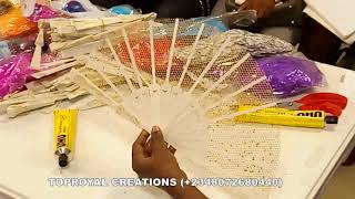 HOW TO MAKE Feather Handfan