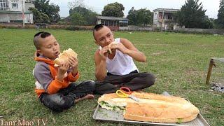 Chiếc Bánh Mỳ Siêu To - Bữa Ăn Sáng Của Anh Em Tam Mao