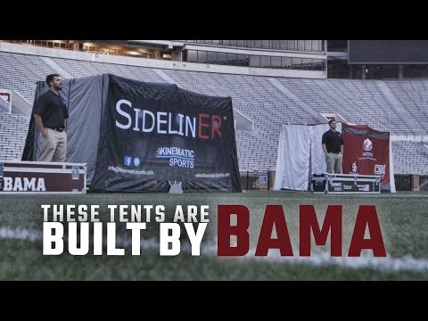 The SidelinER medical tents invented at Alabama are popping up on sidelines across the country