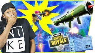 RIDING GUIDED MISSILES AND SHOOTING ROCKETS! - FortNite Battle Royale Ep.112