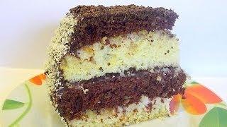 """Смотреть онлайн Рецепт слоеного торта из бисквита """"Ника"""""""