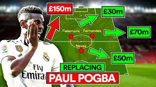 MAN UTD'S NEW MIDFIELD WITHOUT POGBA | SOLSKJAER'S TRANSFERS
