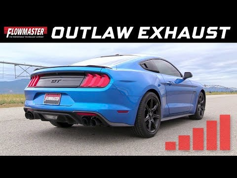2018-20 Ford Mustang GT 5.0L w/Active Valves - Outlaw Cat-back Exhaust 817800
