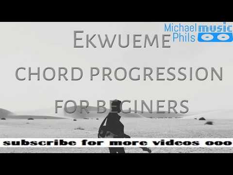 Ekueme simple piano and guitar chord progression