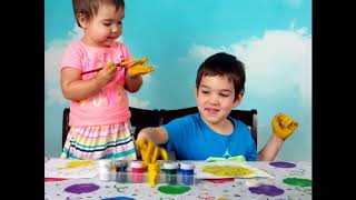 Учим цвета с пальчиковыми красками   Learn colors with Finger Paints and Coloring.