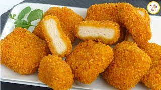 Homemade Chicken Nuggets Recipe by Tiffin Box   How To Make Crispy Nuggets for kids lunch box