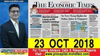 ECONOMIC TIMES NEWSPAPER ANALYSIS 23 OCT 2018