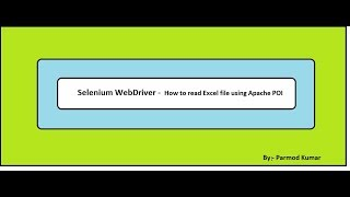 Selenium WebDriver -How to read excel file using Apache POI