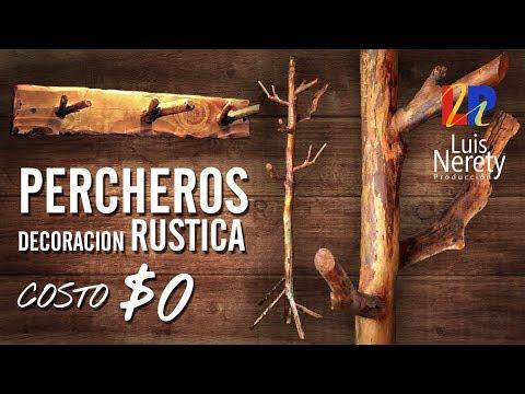 PERCHEROS DECORACION RUSTICA A COSTO $0