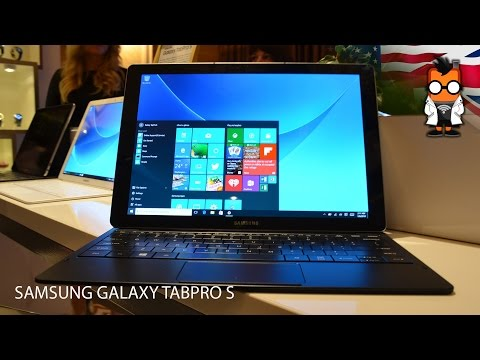 Samsung Galaxy TabPro S Hands On - CES 2016