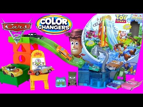 Disney Cars Pixar Toy Story Slide 'n Surprise Playground Color Changers - Brinquedos Em Portugues