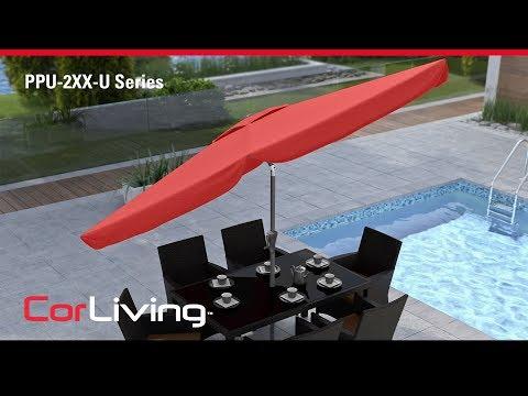 Video for Warm White Outdoor Patio Umbrella