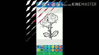 Flower Coloring Pages Salt Painting Rose