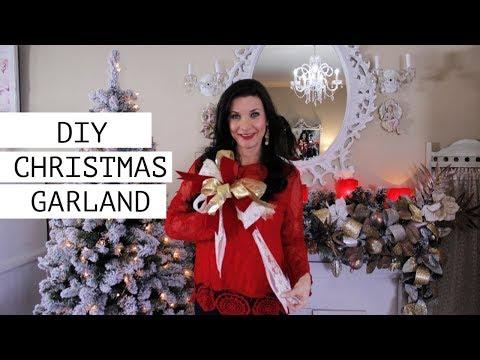 🎄DIY CHRISTMAS MANTEL GARLAND DECOR🎄ELEGANT ON A BUDGET