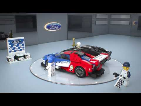 Конструктор 2016 Ford GT & Ford GT40 1966 - LEGO SPEED CHAMPIONS - фото № 3