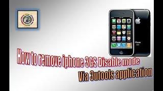 How to remove disable mode from iphone 3gs?