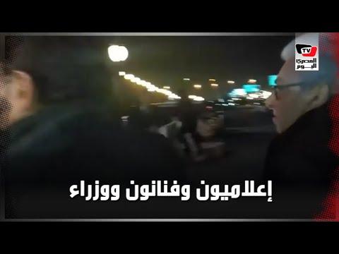 إعلاميون وفنانون ووزراء في عزاء الفنانة نادية لطفي