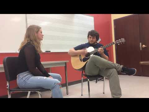 """Alyssa performing Maroon 5's """"Sunday Morning"""" as a part of her Commercial Voice classes."""