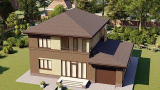 Проект дома 163-D, Площадь дома: 163 м2, Размер дома:  13,6x11,5 м