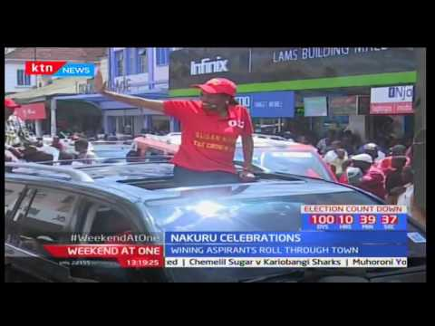 Winning aspirants in Nakuru roll through town in a celebratory procession