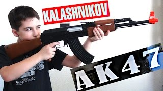Kalashnikov AK47 FPS177 Electric Airsoft Assault Rifle With RobertAndre