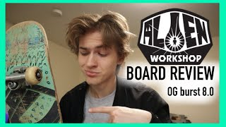 ALIEN WORKSHOP SKATEBOARD REVIEW 2020 (OG Burst 8.0)