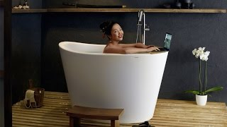Aquatica True Ofuro Tranquility Heated Japanese Bathtub