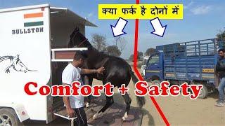 Why Bullston ? घोड़ों की गाड़ी  Bullston Horse Trailer For Safe Horse Transport - Unloading Horses