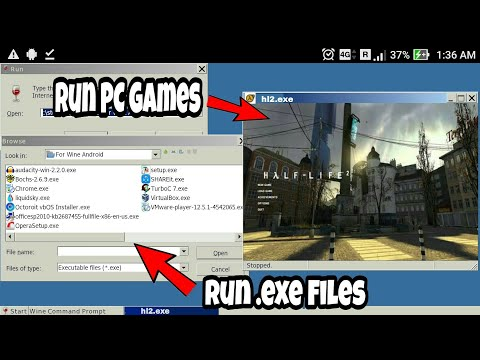 How to Run PC Games/Software on Any Android Phone  !![Run  EXE File
