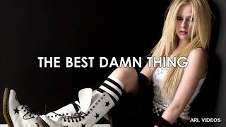 Avril Lavigne's The Best Damn Thing album but it's only song titles