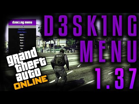 GTA V Online 1 37 D3SK1NG Mod Menu w/ Money & Recovery Hack [PC] - Wyzelo