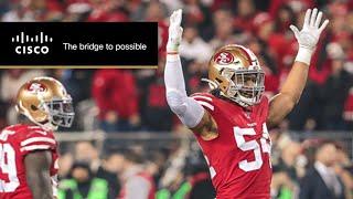 Emmanuel Sanders and Fred Warner Mic'd Up vs. Packers | 49ers