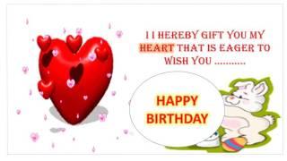 Sweet & cute happy birthday wishes for girlfriend, Musical Birthday Card for Girl friend, whatsapp
