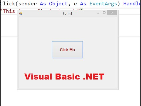Create a Simple Visual Basic Application  in Visual Studio 2015