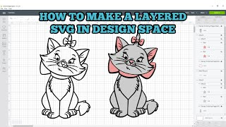 How To Make Layered SVGs In Design Space - Cricut