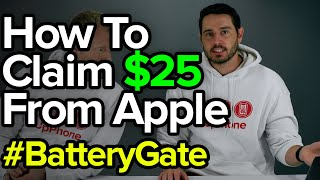 Apple $25 Claim Settlement: How To Get $25 From BatteryGate