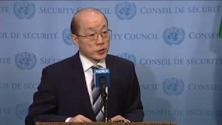 SC President, Liu Jieyi (China) on Middle East (Yemen) - SC Stakeout (12 July 2017)
