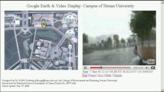 preview picture of video 'Google Earth & Video Display: Campus of Henan University'
