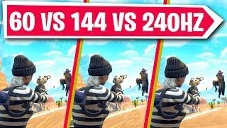 144hz vs 60hz side by side - TH-Clip
