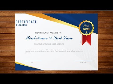 How to Make Formal Certificate of Appreciation Award with MS ...