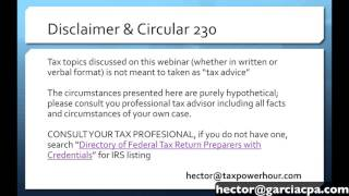 Tax Power Hour: Tax tips across multiple entities like Corporations, Partnerships, and LLC's